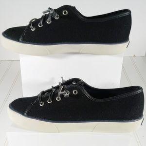 Sperry Women's 8M Black Wool Top Sliders Boat Shoe